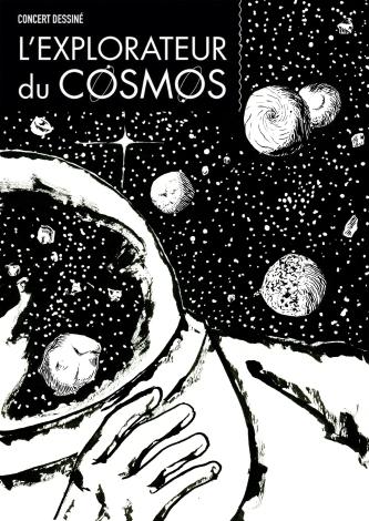 Affiche concert dessiné L'explorateur du cosmos